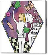 Juggling Chef Canvas Print