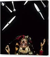 Jester Juggling Canvas Print