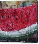 Juicy Watermelon Slice - Sold Canvas Print