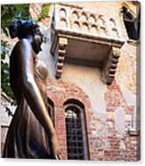 Juliet's Balcony In Verona Italy Canvas Print