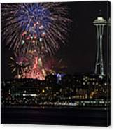 July 4th Fireworks In Seattle Canvas Print