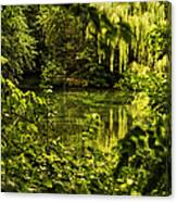 July Tranquil Indian Lake Canvas Print