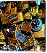 Jumble Of Locks Canvas Print