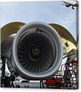 Jumbo Jet Engine And Aerospace Canvas Print