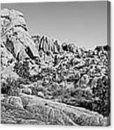 Jumbo Rocks Bw Canvas Print