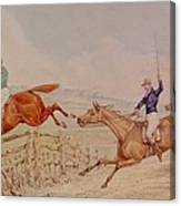 Jumping A Fence Canvas Print