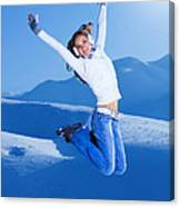 Jumping Girl Canvas Print