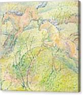 Jumping Horses Canvas Print