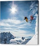 Jumping Legends Canvas Print