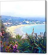 June Gloom Morning At Laguna Beach Coast Canvas Print