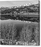 June Lake Black And White Canvas Print