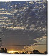 June Sunrise From The Series The Imprint Of Man In Nature Canvas Print