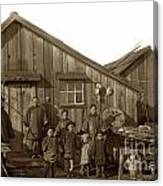 Jung San Choy And Chinese Family Pescadero Village Pebble Beach California Circa 1895 Canvas Print