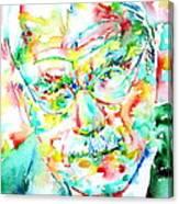 Jung - Watercolor Portrait.2 Canvas Print