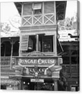 Jungle Cruise Adventureland Disneyland Bw Canvas Print