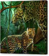 Jungle Spirit - Leopard Canvas Print