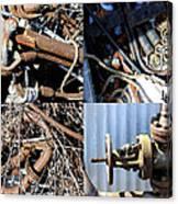 Junk Collage  Canvas Print