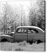 Junked Ford Car Canvas Print