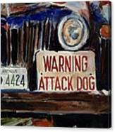 Junkyard Dog Canvas Print