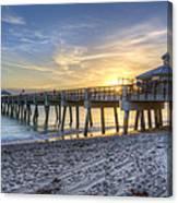Juno Beach Pier At Dawn Canvas Print