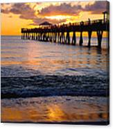 Juno Beach Pier Canvas Print