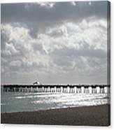 Juno Beach Pier Canvas Print