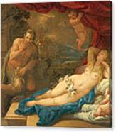 Jupiter And Antiope Canvas Print