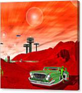 Just Another Day On The Red Planet 2 Canvas Print