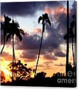 Just Another Sunrise In Paradise Canvas Print