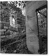 Just Left There Jerome Black And White Canvas Print