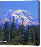 Just Over The Hill Mt. Rainier Canvas Print