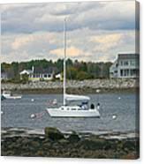 Just Waiting At Rye Harbor Canvas Print