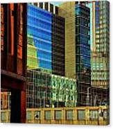 Juxtaposition Of Pittsburgh Buildings Canvas Print