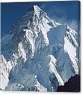 K2 At Dawn Pakistan Canvas Print
