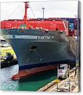 Kaethe P Container Ship Panama Canal Canvas Print