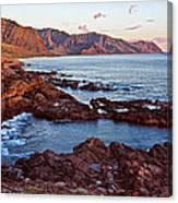 Ka'ena Point Oahu Sunset Canvas Print