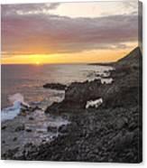 Kaena Point Sea Arch Sunset - Oahu Hawaii Canvas Print