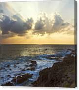 Kaena Point State Park Sunset 3 - Oahu Hawaii Canvas Print
