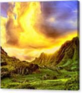 Kahana Valley Sunset Canvas Print