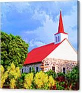 Kahikolu Congregational Canvas Print