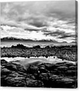 Kaikoura Coast New Zealand In Black And White Canvas Print