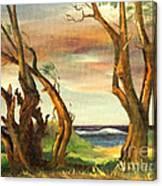 Kaina Point - Oahu Hi. Canvas Print