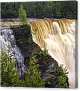 Kakabeka Falls On The Kaministiquia River Canvas Print