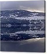 Sunset Kalamalka Lake - British Columbia Canvas Print