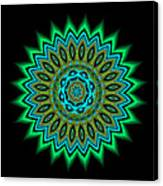 Kaleidoscope 1 Blues And Greens Canvas Print