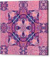 Kaleidoscope Art Peach Canvas Print