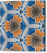Kaleidoscope In Blue And Orange Canvas Print