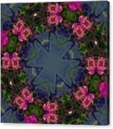 Kaleidoscope Lantana Wreath Canvas Print
