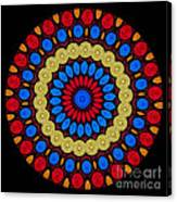 Kaleidoscope Of Colorful Embroidery Canvas Print