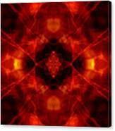 Kaleidoscope Red Canvas Print
